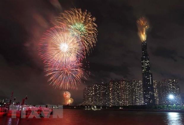 胡志明市将在7个地点燃放烟花 喜迎2020庚子年春节 hinh anh 1