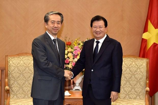 越南政府副总理郑廷勇会见中国驻越大使熊波 hinh anh 1