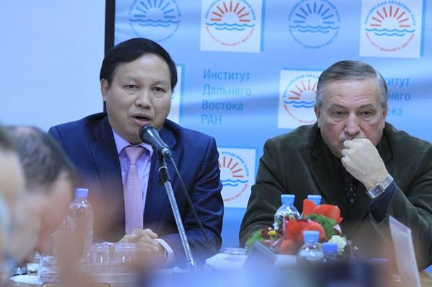 """""""越俄合作70周年""""圆桌研讨会在俄罗斯举行 hinh anh 1"""