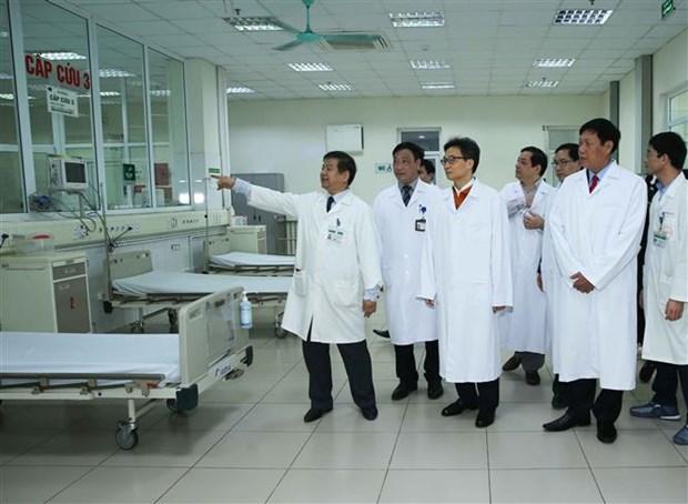 越南政府副总理武德儋检查新型冠状病毒感染的肺炎疫情的防空准备工作 hinh anh 1