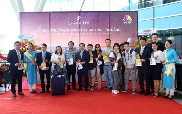 中国台湾飞往岘港市又一条直达航线正式开通 hinh anh 1