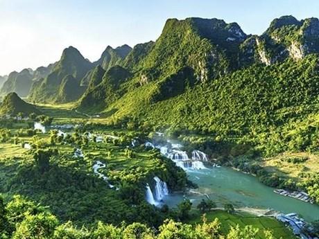 越南边境地区奇观——板约瀑布 hinh anh 1