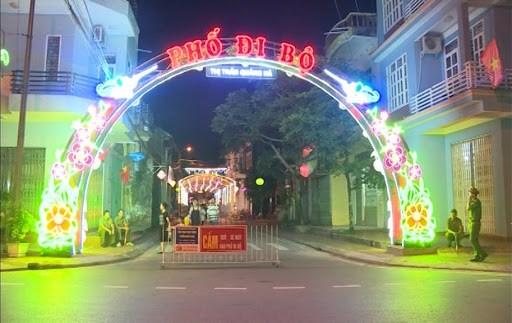 广宁省海河步行街宁静古老气息让人流连忘返 hinh anh 1