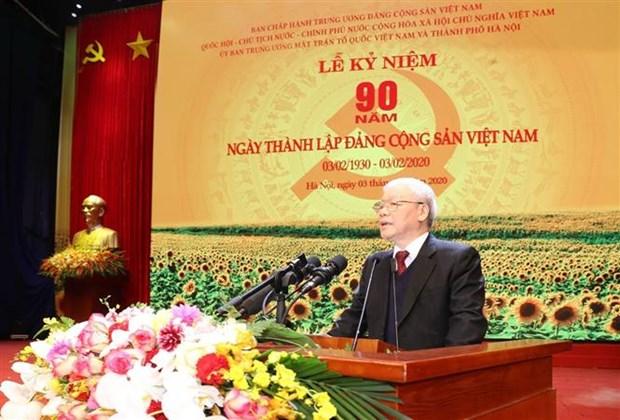 越共中央总书记:越南共产党有足够的本领、信誉和能力 担当领导国家的大任 hinh anh 1