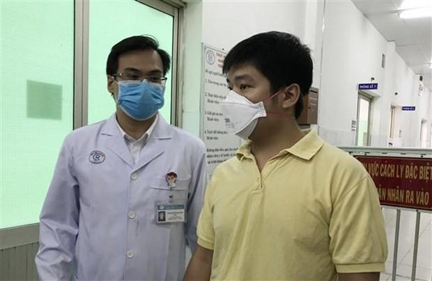 胡志明市大水镬医院救治的新型冠状病毒感染的肺炎中国籍患者已出院 hinh anh 1