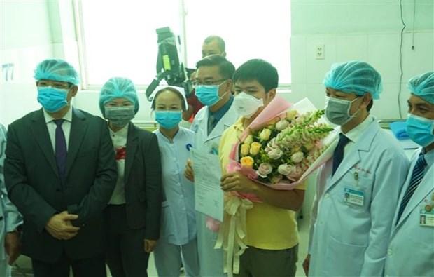 胡志明市大水镬医院救治的新型冠状病毒感染的肺炎中国籍患者已出院 hinh anh 2