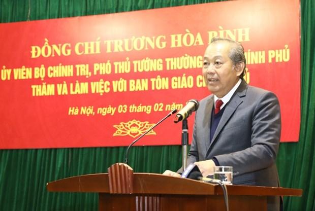 政府常务副总理张和平:主动遏制利用宗教名义进行的违法犯罪活动 hinh anh 2