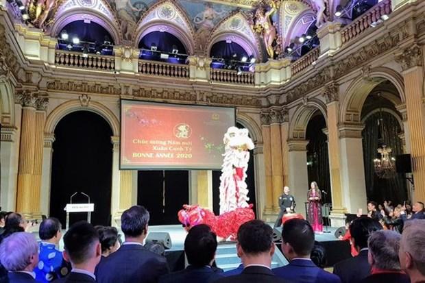 2020庚子年新年招待会在老挝和法国举行 hinh anh 1