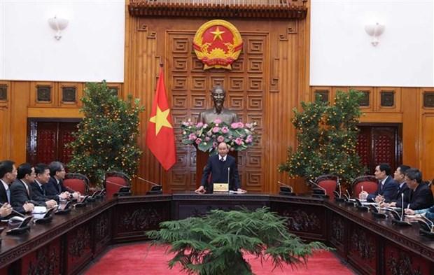越南政府总理阮春福接见越南驻外大使和首席代表 hinh anh 2