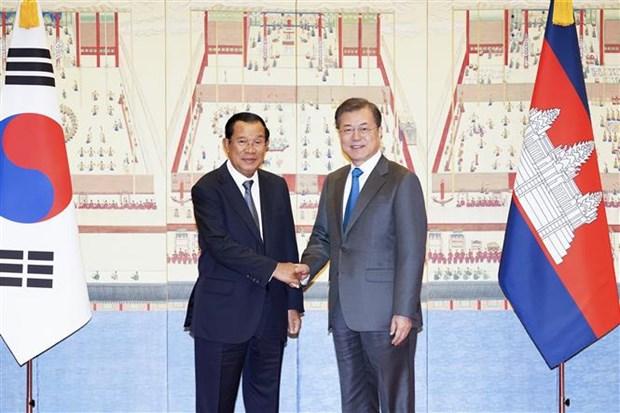 韩国与柬埔寨一致同意推进韩国与东盟和韩国与湄公河流域国家的合作关系 hinh anh 1