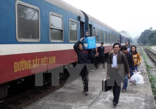 越南至中国联运国际货运列车加强nCoV新型肺炎防控措施 hinh anh 1