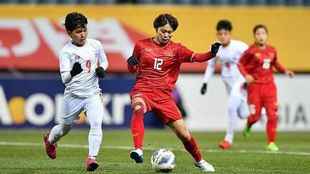 2020年东京奥运会女足预选赛第三轮比赛:越南队击败缅甸队 hinh anh 1