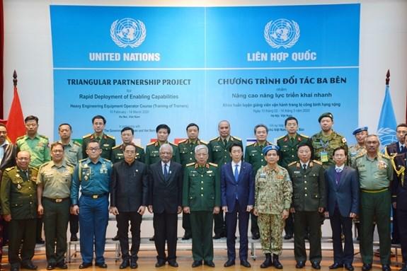 越南参加联合国维和行动:重型工兵装备运行讲师培训班正式开班 hinh anh 2