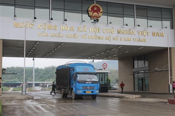 越南580吨农产品通过老街口岸向中国出口 hinh anh 1