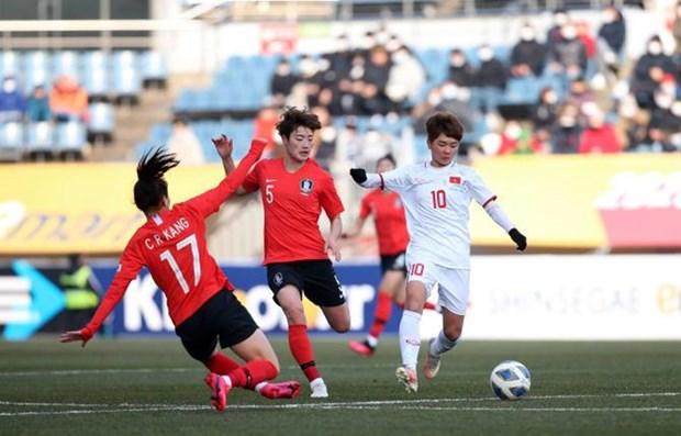 2020年东奥会女足预选赛:越南女足队败于韩国女足队 位居A组第二名 hinh anh 1
