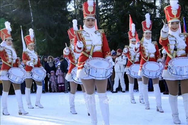 越南大使馆参加第20届俄罗斯外交使团和国际组织冬季运动比赛 hinh anh 1