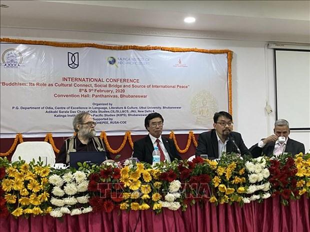 越南出席印度佛教国际研讨会 hinh anh 1