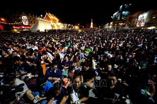 泰国枪击案:上千人悼念29名不幸遇难者 hinh anh 1