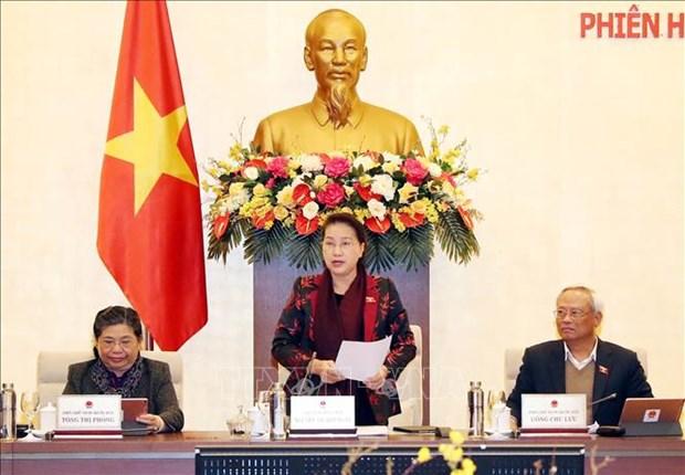 越南国会常委会第42次会议落下帷幕 hinh anh 1