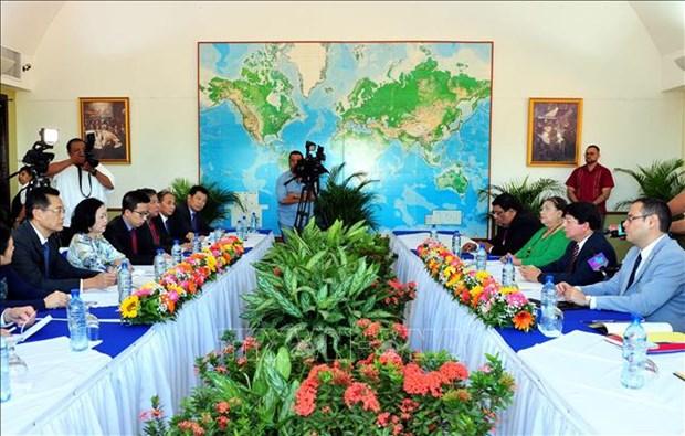 越南共产党高级代表团对尼加拉瓜进行工作访问 hinh anh 2