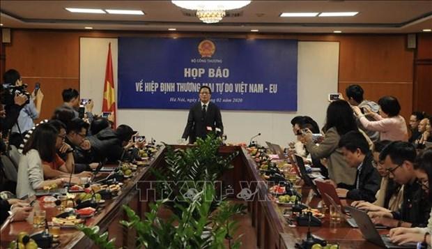 越南工贸部部长:EVFTA将于7月生效 hinh anh 1