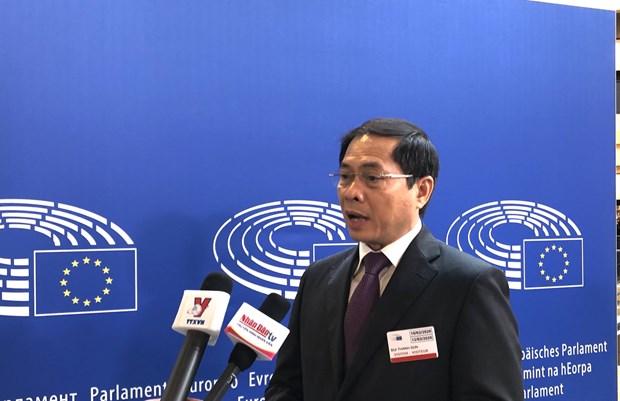越南副外长裴青山:EVFTA和EVIPA对越南和欧盟具有重大的战略意义和经济意义 hinh anh 1