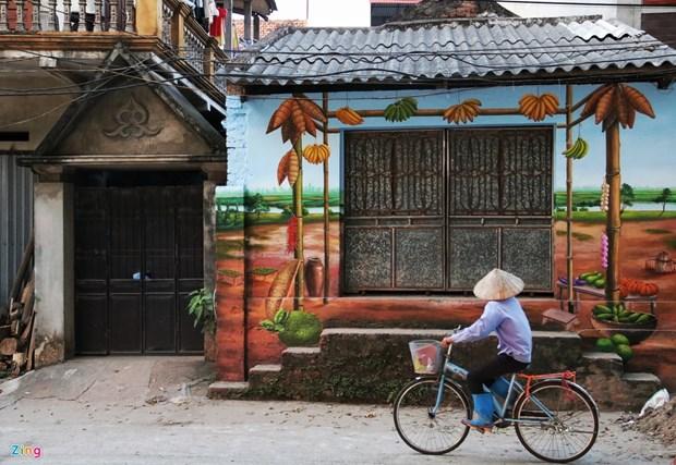 褚舍村——首都河内的壁画村 hinh anh 1