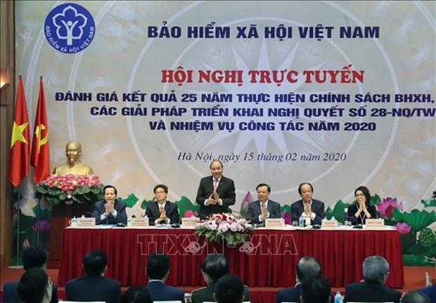 越南政府总理阮春福:社保改革既有紧迫性,又有长期性 hinh anh 1