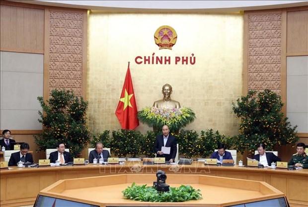 越南政府2020年1月例行会议决议:重点强化疫情防控工作和维护宏观经济稳定 hinh anh 1