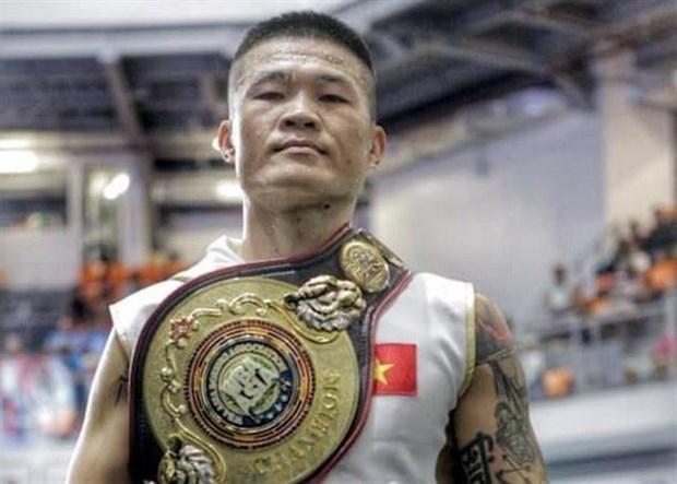 越南拳击运动员张廷煌获WBA亚洲区超中量级冠军金腰带 hinh anh 1