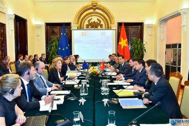 越南-欧盟政治事务小组第一次会议新闻公报 hinh anh 1