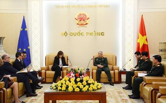 越南与欧盟深化防务合作 hinh anh 1