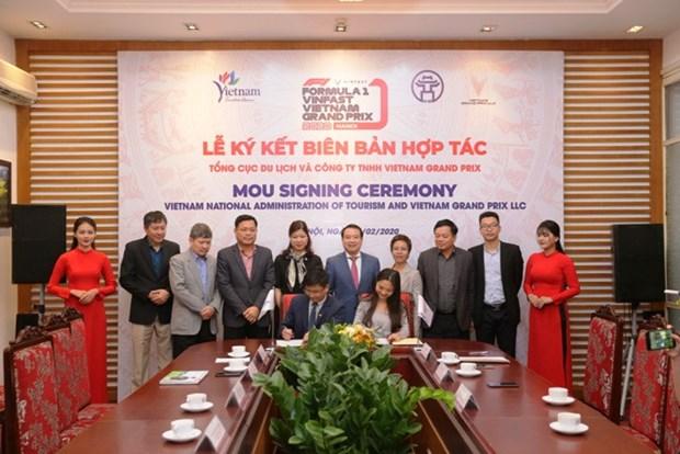 越南签署旅游景区和一级方程式赛车联合推广宣传合作协议 hinh anh 1