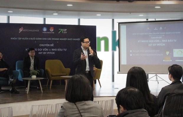 河内市与年轻创业企业并肩同行 hinh anh 1