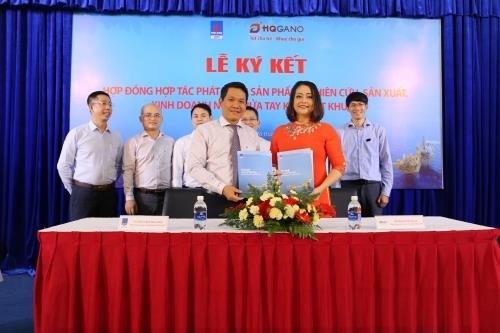 越南VPI和HQGANO公司合作生产免洗消毒洗手液 hinh anh 1