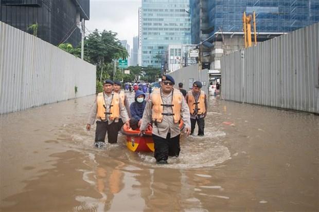 印尼首都发生洪灾 至少5人死亡 hinh anh 1