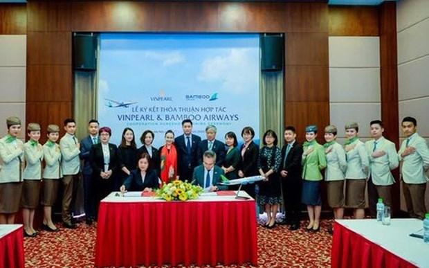 越竹航空与Vinpearl携手合作开发航空、旅游产品套餐服务 hinh anh 1