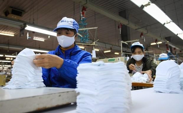 VINATEX向市场提供600万副口罩 hinh anh 1