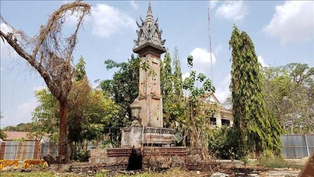 设在柬埔寨磅士卑省的越柬友谊纪念碑动工兴建 hinh anh 2