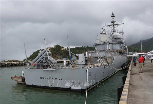 美国海军舰队访问岘港市 hinh anh 1