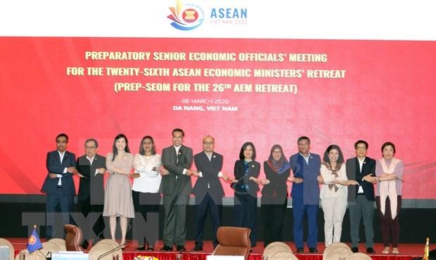 越南向第26届东盟经济部长非正式会议提出13项优先事项 hinh anh 1