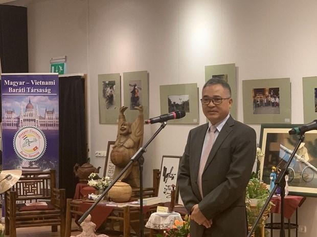 越南风土人情图片展和越南文化展示空间活动在匈牙利正式开幕 hinh anh 1
