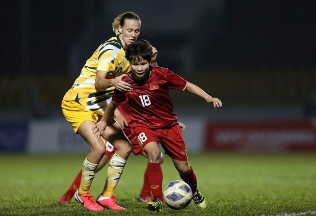 2020年东京奥运会:越南女足奋战澳大利亚女足 hinh anh 1