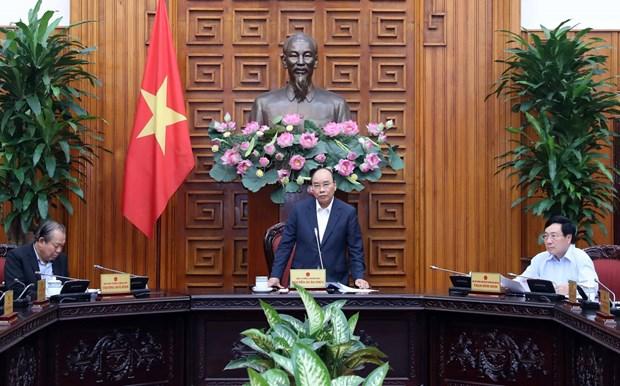 阮春福总理就一些交通项目主持召开政府常务会议 hinh anh 1