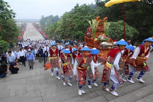2020年雄王庙庙会将减少一些祭祀仪式 hinh anh 1