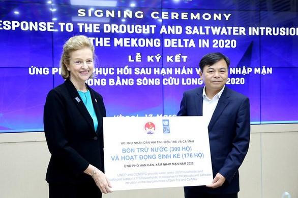 联合国开发计划署援助越南九龙江三角洲有效应对干旱和海水入侵 hinh anh 1