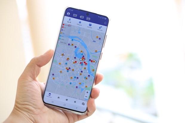 新冠肺炎疫情:河内市启用对居家隔离人员的手机APP智能监管系统 hinh anh 1