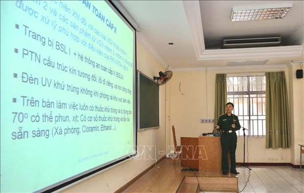 越南军队各医疗机构已为新冠病毒检测做好准备 hinh anh 1