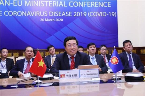 新冠肺炎疫情:东盟与欧洲各国进一步密切合作 做好疫情防控工作 hinh anh 1