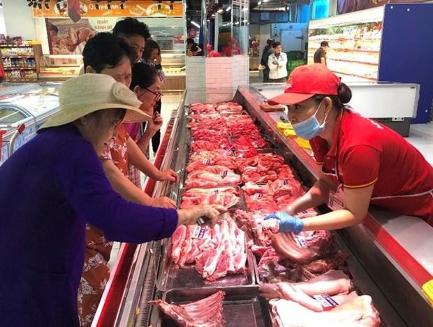 今年6月后猪肉供给来源会增多 hinh anh 1